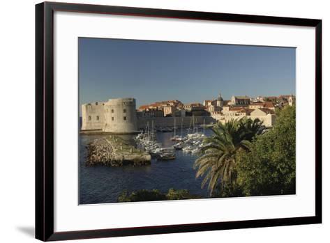 Croatia, Dalmatia, Dubrovnik, Port Near Old Town--Framed Art Print