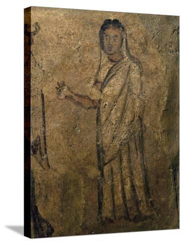 Woman Praying, Funeral Painting from Tomb Near Isernia, Campania, Italy, 6th Century--Stretched Canvas Print