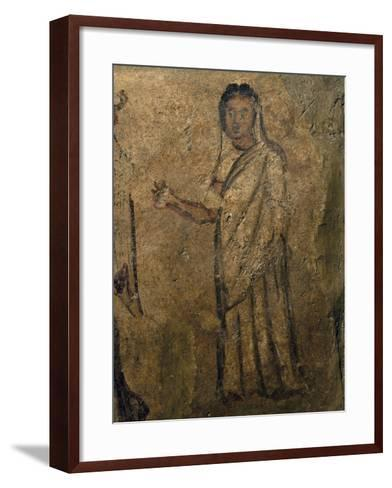 Woman Praying, Funeral Painting from Tomb Near Isernia, Campania, Italy, 6th Century--Framed Art Print
