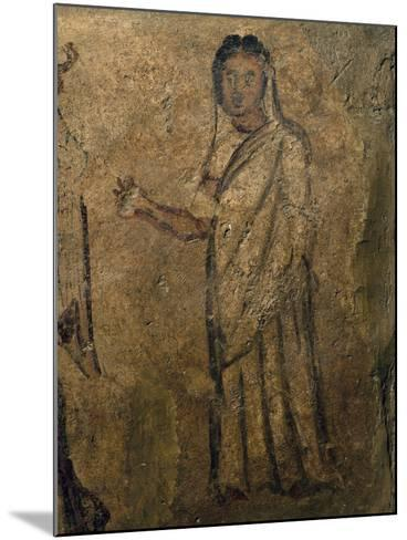 Woman Praying, Funeral Painting from Tomb Near Isernia, Campania, Italy, 6th Century--Mounted Giclee Print