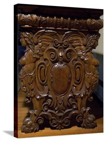 Table with Carved Pedestal Legs, Italy, 16th-17th Century--Stretched Canvas Print