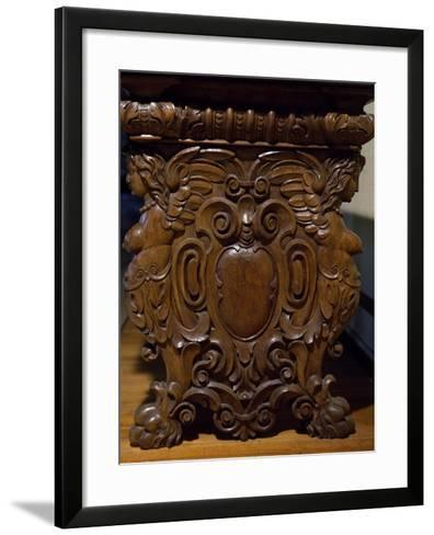 Table with Carved Pedestal Legs, Italy, 16th-17th Century--Framed Art Print