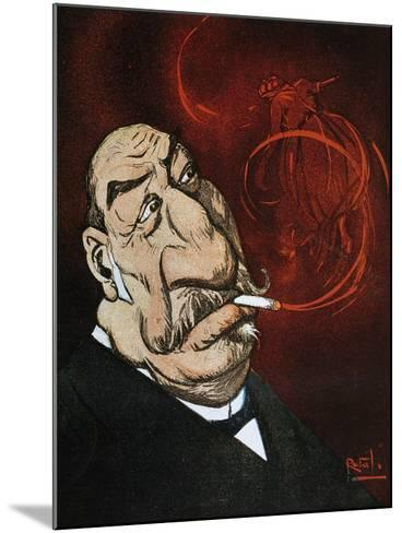The Honourable Giolitti's Smoke, Satirical Cartoon from L'Asino Magazine, July 26, 1908, Italy--Mounted Giclee Print
