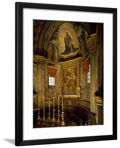 Central Apse of Cathedral of Santa Maria Assunta, Cremona, Italy, 12th-14th Century--Framed Art Print