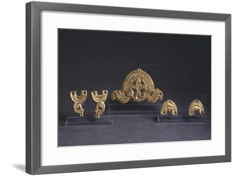 7th Century Golden Saddle Ornaments, from Castel Trosino, Italy--Framed Art Print