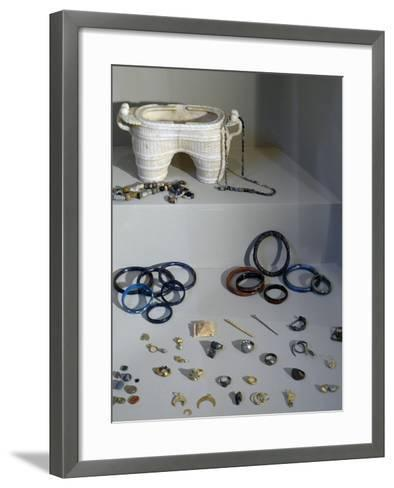Gold, Glass, Ivory and Metal Jewelry, Uncovered from House of Terraces--Framed Art Print