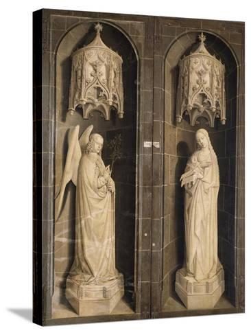 Annunciation, Burning Bush Triptych, 1475--Stretched Canvas Print