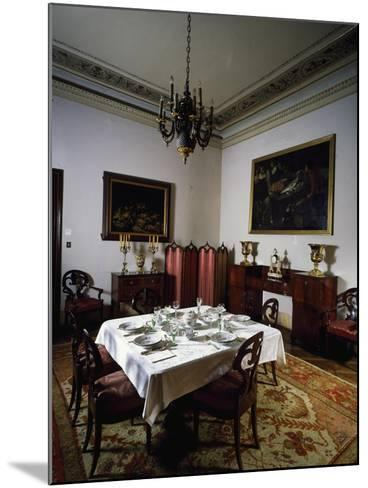 Interior of Biedermeier Style Dining Room, Villa Sartorio, Trieste, Friuli-Venezia Giulia, Italy--Mounted Giclee Print