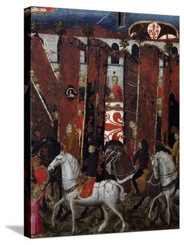 Procession of Palios of San Giovanni in Baptistery of Florence, Decoration on Wedding Chest, Italy--Stretched Canvas Print
