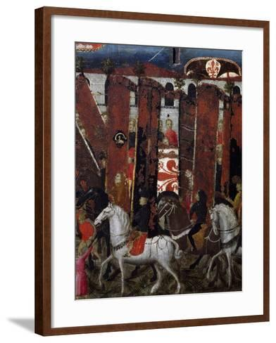 Procession of Palios of San Giovanni in Baptistery of Florence, Decoration on Wedding Chest, Italy--Framed Art Print