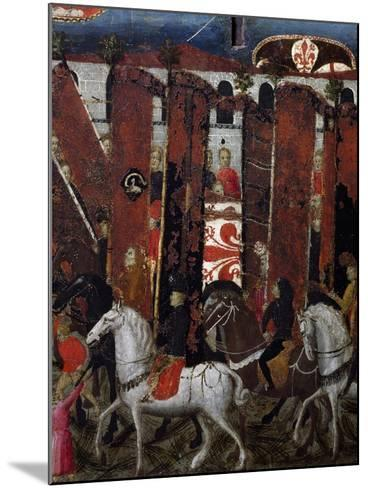 Procession of Palios of San Giovanni in Baptistery of Florence, Decoration on Wedding Chest, Italy--Mounted Giclee Print