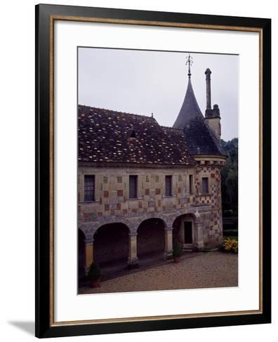 France, Chateau De Saint-Germain-De-Livet, Courtyard View--Framed Art Print