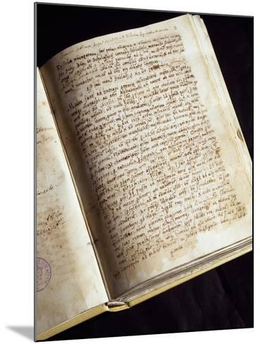 Codex in the Library of the Monastery of St Scholastica, Subiaco, Italy--Mounted Giclee Print