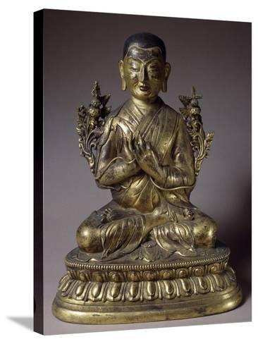Tsongkhapa, Gilded Bronze Statue, Qing Dynasty, Chien Lung Reign--Stretched Canvas Print