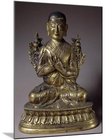 Tsongkhapa, Gilded Bronze Statue, Qing Dynasty, Chien Lung Reign--Mounted Giclee Print