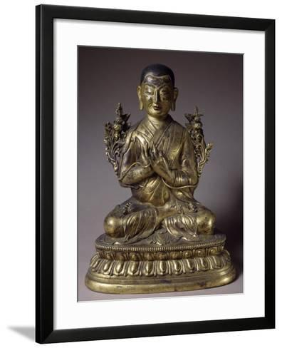 Tsongkhapa, Gilded Bronze Statue, Qing Dynasty, Chien Lung Reign--Framed Art Print