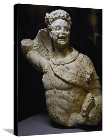 Bust of Young Satyr Uncovered from Odeon of Baalbek, Lebanon, Mid-3rd Century--Stretched Canvas Print