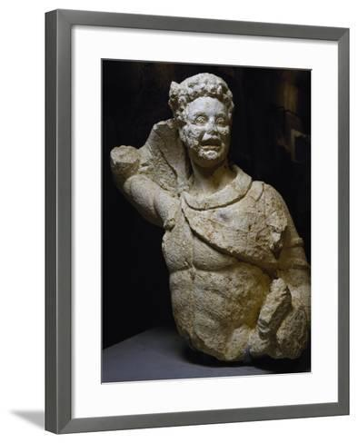 Bust of Young Satyr Uncovered from Odeon of Baalbek, Lebanon, Mid-3rd Century--Framed Art Print