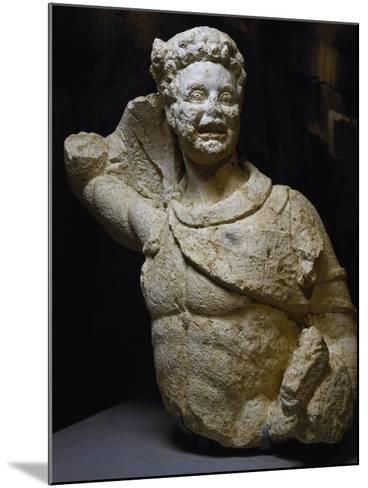 Bust of Young Satyr Uncovered from Odeon of Baalbek, Lebanon, Mid-3rd Century--Mounted Giclee Print