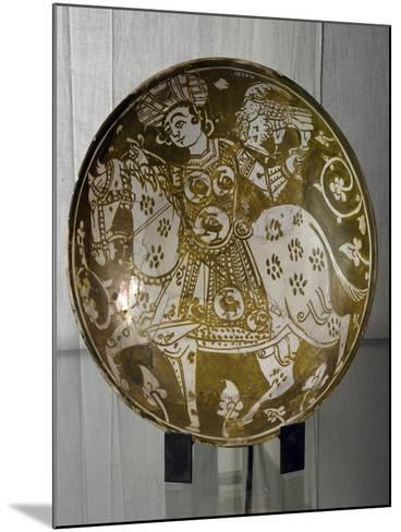 Plate Decorated with Hunter on Horseback with Hawk, Ceramics. Fatimid Period, 11th Century--Mounted Giclee Print
