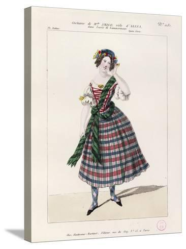 France, Paris, Costume Sketch for Alice in Opera Lucia Di Lammermoor--Stretched Canvas Print