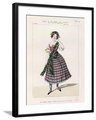 France, Paris, Costume Sketch for Alice in Opera Lucia Di Lammermoor--Framed Art Print