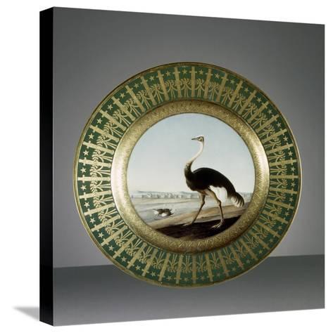 Plate, Porcelain, Sevres Manufacture, Ile-De-France, France--Stretched Canvas Print