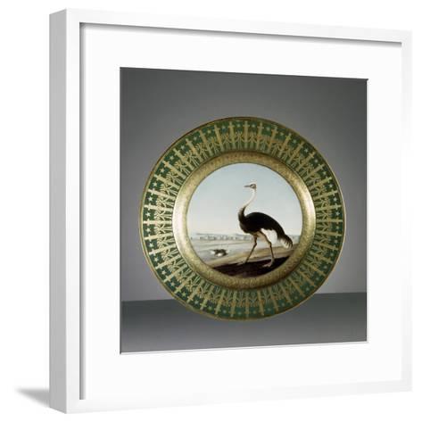 Plate, Porcelain, Sevres Manufacture, Ile-De-France, France--Framed Art Print