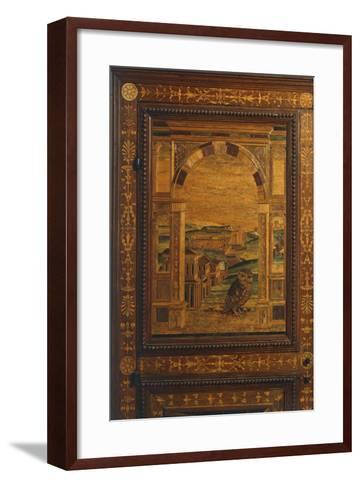 Inlay Depicting View of City, Detail from Walnut Cabinet, Ca 1500, Italy, 16th Century--Framed Art Print