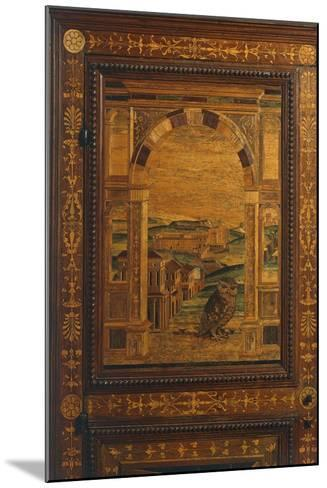 Inlay Depicting View of City, Detail from Walnut Cabinet, Ca 1500, Italy, 16th Century--Mounted Giclee Print