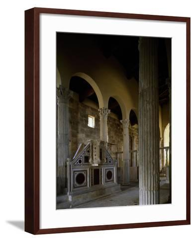 Church of Saint Peter, Interior, Massa D'Albe, Abruzzo, Italy--Framed Art Print