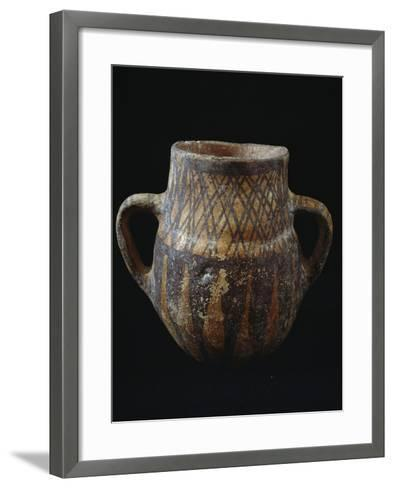 Vase with Geometric Decorations from Necropolis of Narro, Castelluccio Culture, Bronze Age--Framed Art Print