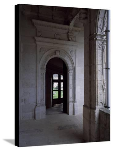Gallery Courtyard of Chateau De La Rochefoucauld, Poitou-Charentes, Detail, France, 16th Century--Stretched Canvas Print
