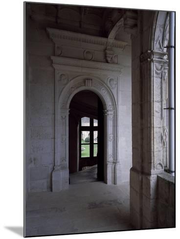 Gallery Courtyard of Chateau De La Rochefoucauld, Poitou-Charentes, Detail, France, 16th Century--Mounted Giclee Print