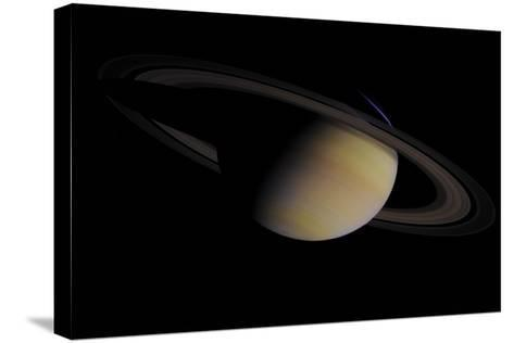Saturn in Natural Color--Stretched Canvas Print