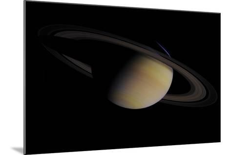Saturn in Natural Color--Mounted Giclee Print