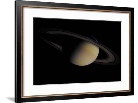 Saturn in Natural Color--Framed Art Print