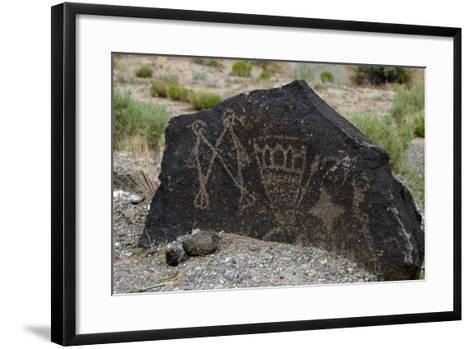 Petroglyph National Monument, Petroglyphs, New Mexico, USA--Framed Art Print