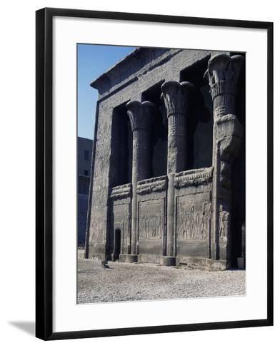 Left Side of Facade of Temple of Khnum, Esna--Framed Art Print