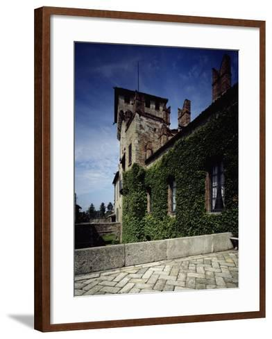 Italy, Somma Lombardo, Castello Visconti Di San Vito, Castle Tower in Winter--Framed Art Print