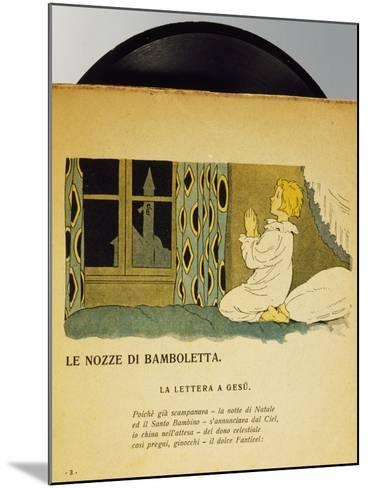 Marriage of Dolls, Children's Music Record, Italy, Early 20th Century--Mounted Giclee Print