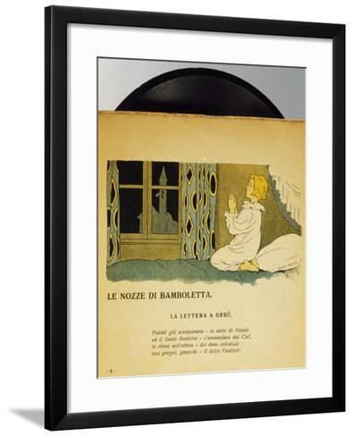 Marriage of Dolls, Children's Music Record, Italy, Early 20th Century--Framed Art Print
