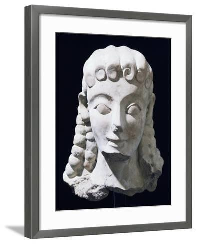 Terracotta Female Head of Ionic Type, Ancient Greece--Framed Art Print