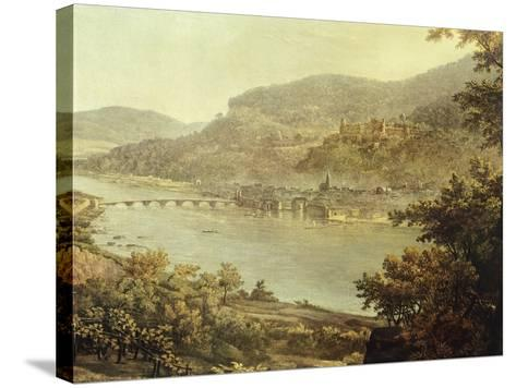 View of Heidelberg on the Neckar River, Germany 19th Century Detail--Stretched Canvas Print