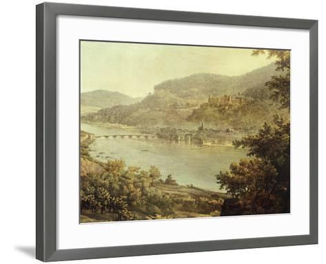 View of Heidelberg on the Neckar River, Germany 19th Century Detail--Framed Art Print