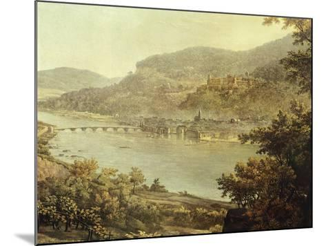 View of Heidelberg on the Neckar River, Germany 19th Century Detail--Mounted Giclee Print