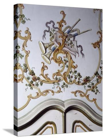 Italy, Santa Margherita Ligure, Villa Durazzo, Detail of Decoration from Room--Stretched Canvas Print