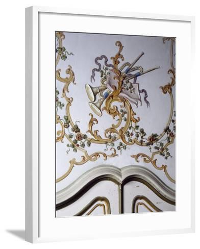 Italy, Santa Margherita Ligure, Villa Durazzo, Detail of Decoration from Room--Framed Art Print