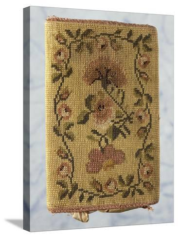 Back of Purse, Embroidered with Silk Small Stitch, with Floral Motifs--Stretched Canvas Print