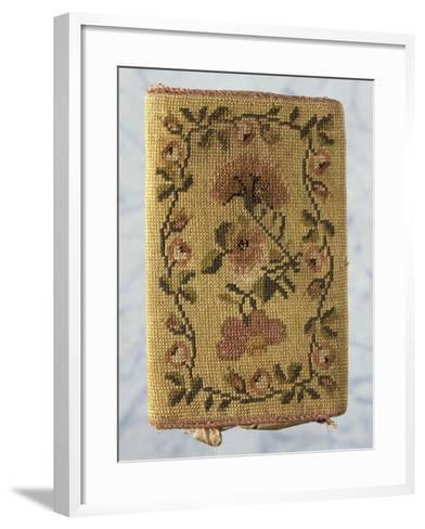 Back of Purse, Embroidered with Silk Small Stitch, with Floral Motifs--Framed Art Print